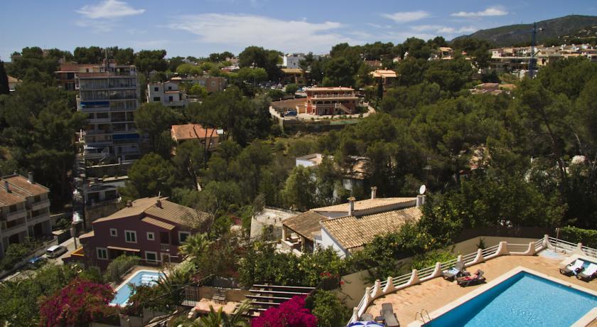 Uitzichtpunt vanaf hotel Costa Portals op Mallorca
