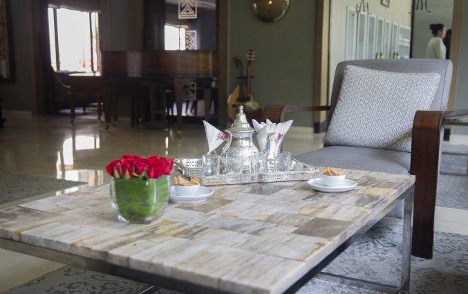 Zithoek met thee van Hotel & Spa Hivernage in Marrakech