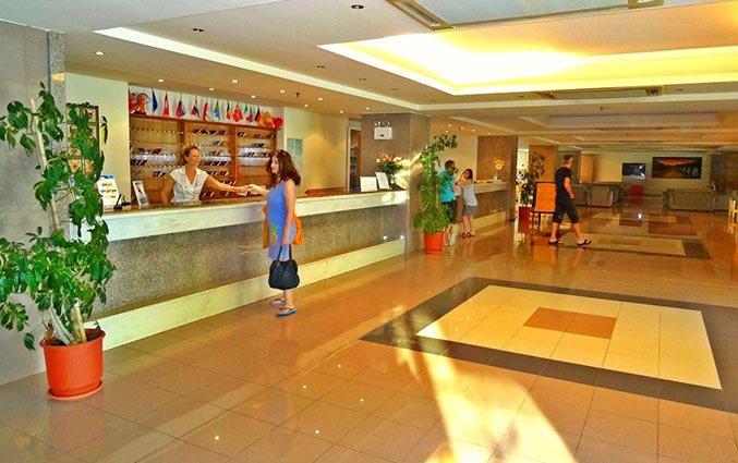 Lobby van Aparthotel Filerimos Village op Rhodos