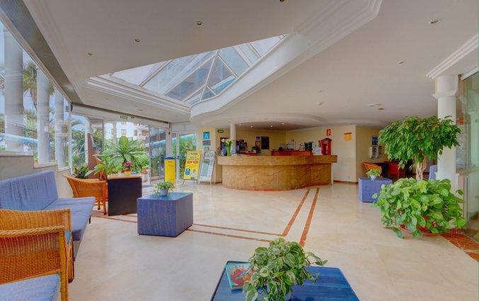 De lobby en receptie van Studio's Pez Azul op Tenerife