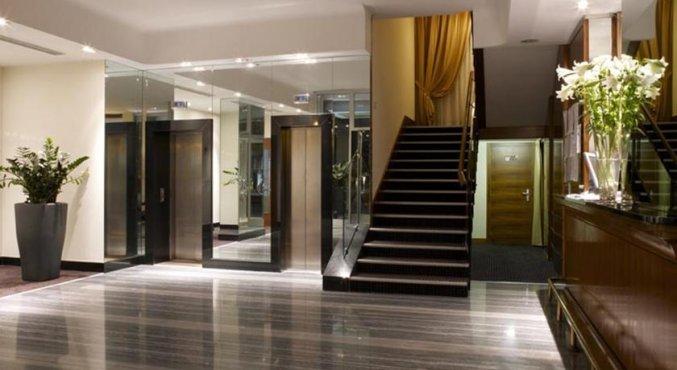 Entree van Hotel Sirio in Venetie