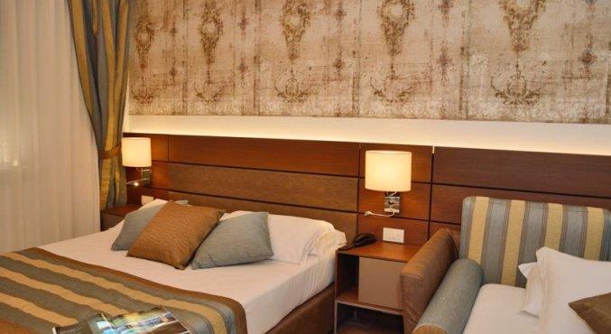 Tweepersoonskamer van Hotel Sirio in Venetie