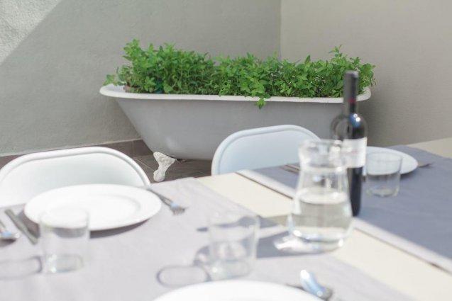 Eettafel bij Appartementen Valencia Centre Torres de Quart Valencia