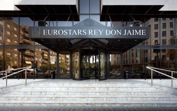 Entree van Hotel Eurostars Rey Don Jaime in Valencia