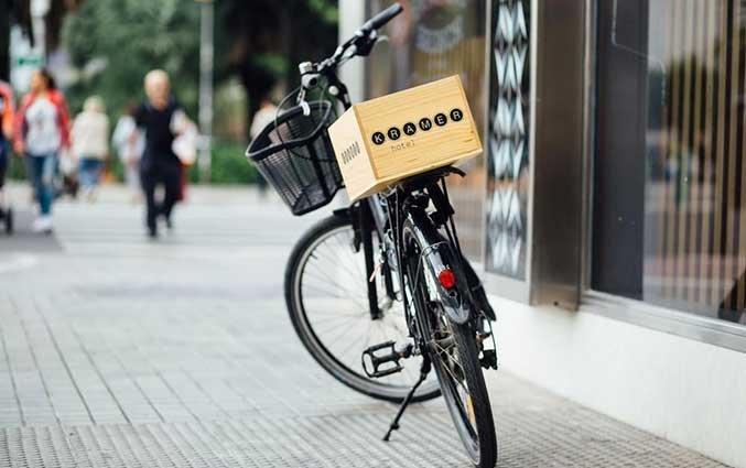 Een fiets van Hotel Kramer Valencia