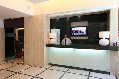 Receptie van Hotel Turim Restauradores in Lissabon