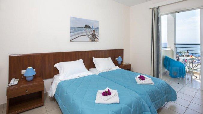 Tweepersoonskamer van Resort Mareblue Beach op Corfu