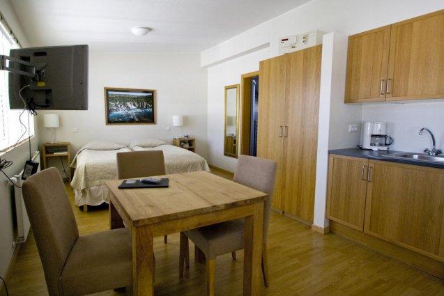Tweepersoonskamer van Hotel Fron in IJsland