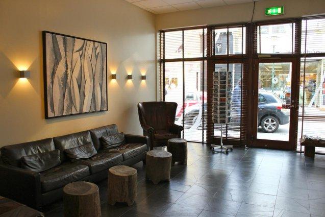 Lobby van Hotel Fron in IJsland
