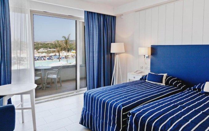 Tweepersoonskamer van Resort DB Seabank op Malta