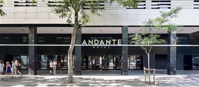 Entree van hotel Andante in Barcelona