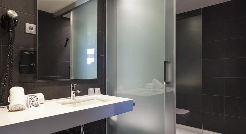 Badkamer van hotel Andante in Barcelona