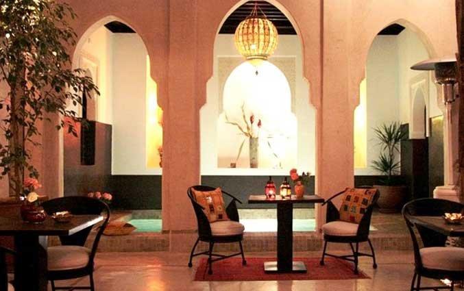 Terras van Riad Diana in Marrakech