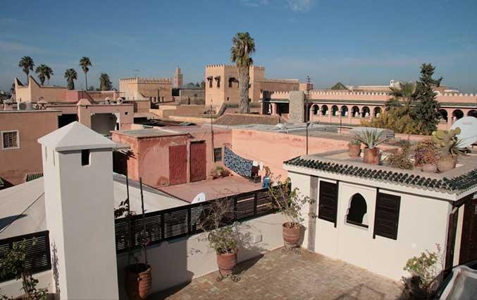 Uitzicht van Riad Diana in Marrakech