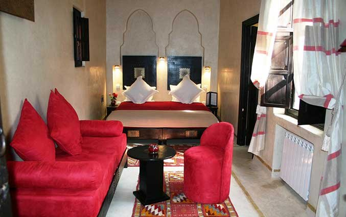 Tweepersoonskamer van Riad Diana in Marrakech