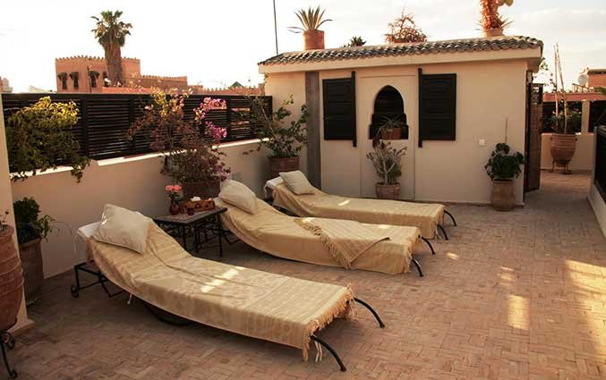 Dakterras van Riad Diana in Marrakech