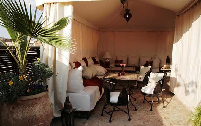 Lounge van Riad Diana in Marrakech