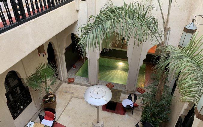 Binnentuin van Riad Diana in Marrakech