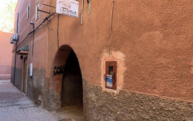 Buitenkant van Riad Diana in Marrakech