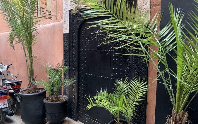 Ingang van Riad Diana in Marrakech
