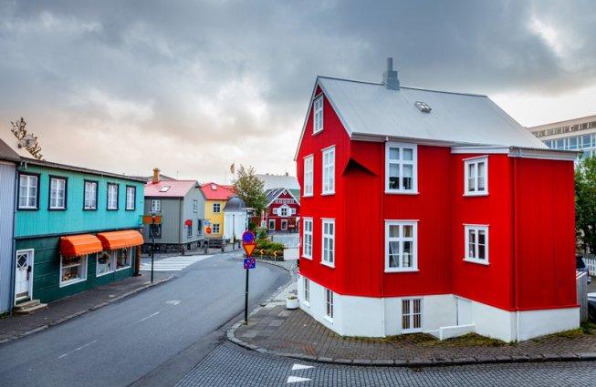 Straat in Reykjavik IJsland