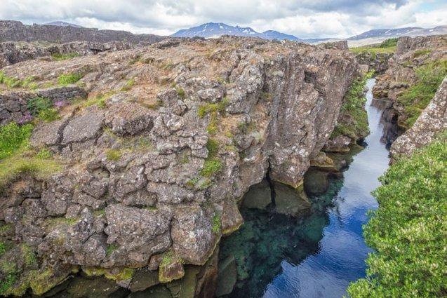 Silfra kloof IJsland