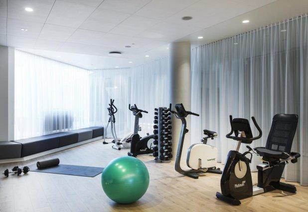 Fitnessruimte van Hotel Island op IJsland