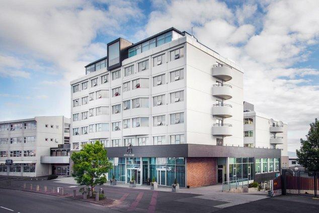 Gebouw van Hotel Island op IJsland