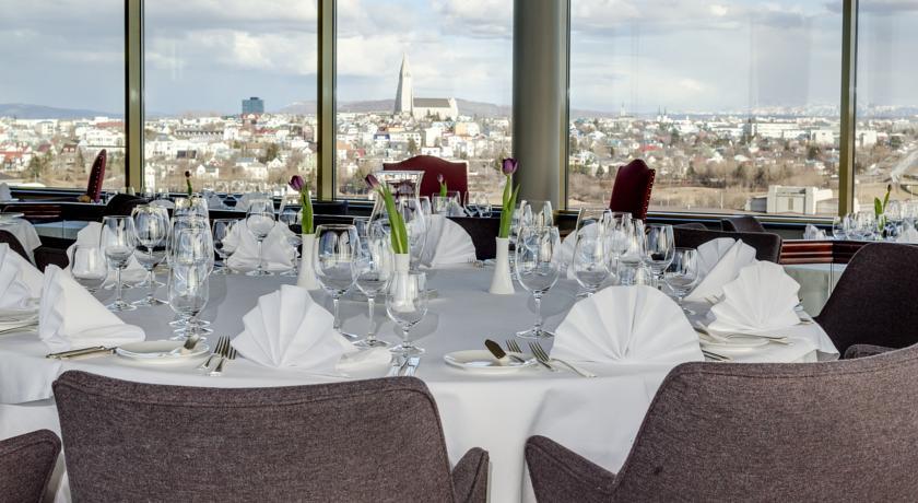 Restaurant van Hotel Radisson Blu Saga op IJsland