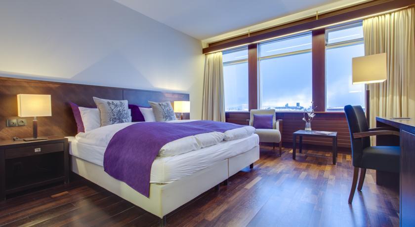 Tweepersoonskamer van Hotel Radisson Blu Saga op IJsland