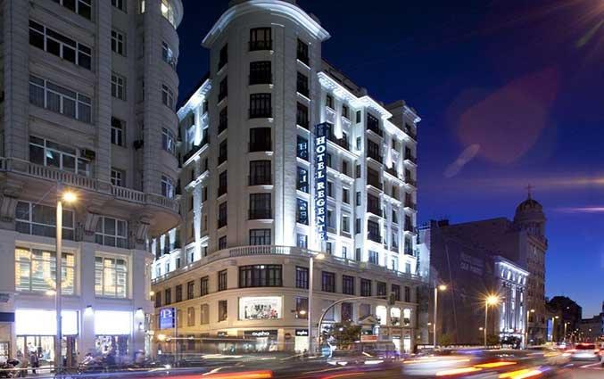 Gebouw van Hotel Regente in Madrid
