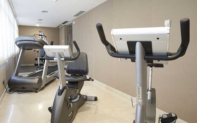 Fitnessruimte van Hotel Regente in Madrid