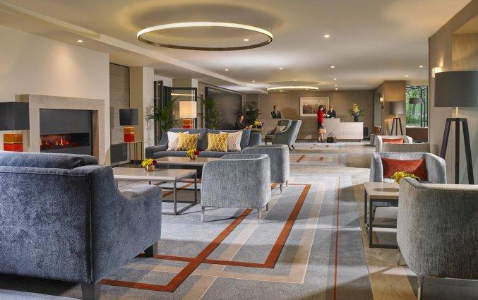 Lobby van Hotel Mespil in Dublin