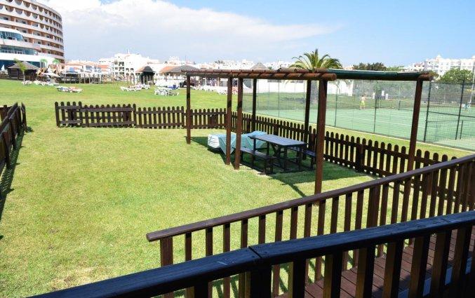 Tuin van Appartementen Paraiso Albufeira in Algarve