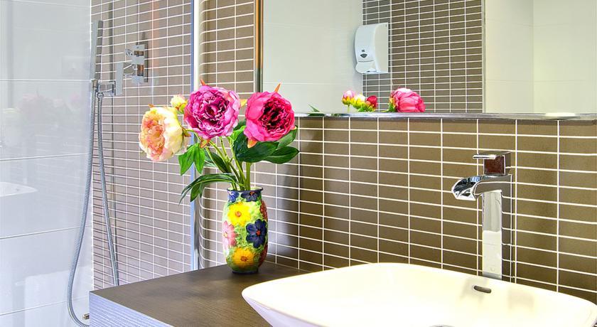 Badkamer van Hotel Papi aan de Costa Brava