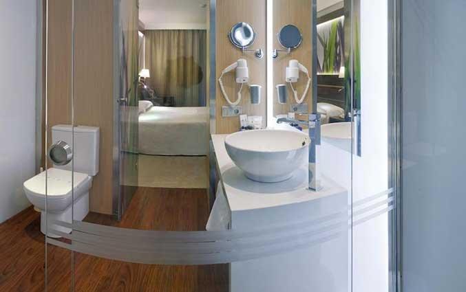 Badkamer van Hotel Volga in Costa Brava