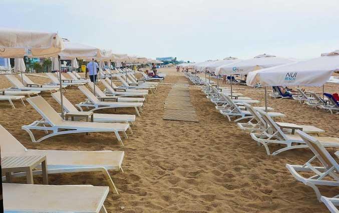 Strand van Hotel Volga in Costs Brava