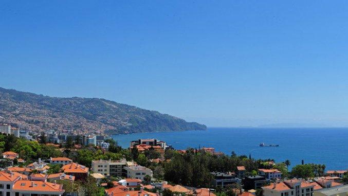 Uitzicht van Studio's Dorisol Buganvilia op Madeira