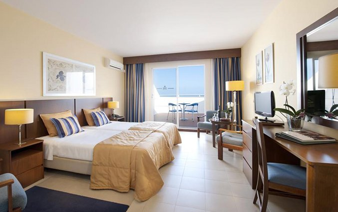 Tweepersoonskamer van Hotel Roca Mar op Madeira