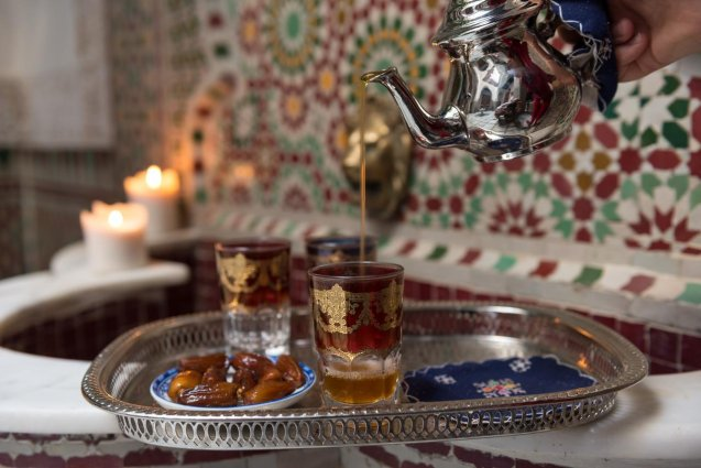 Marrokaanse thee van Riad Algila Fès