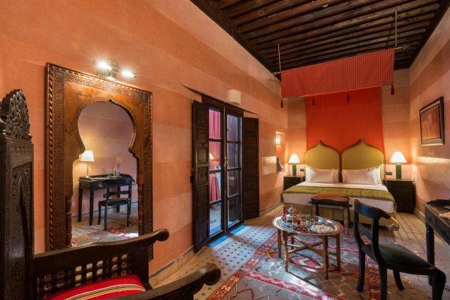 Tweepersoonskamer van Riad Algila Fès