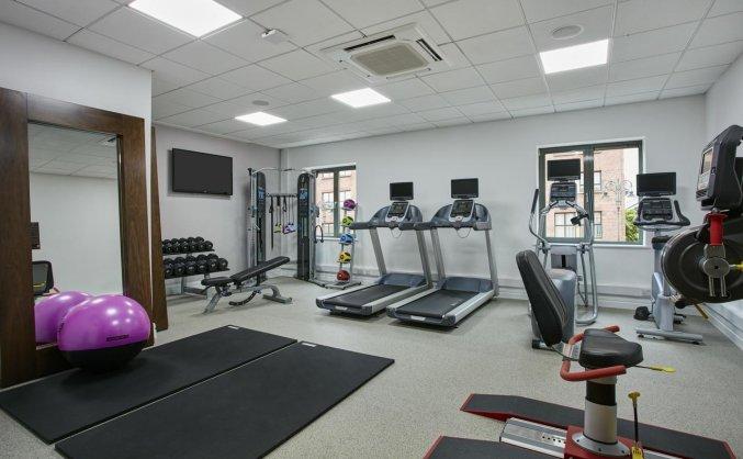 Fitnessruimte van hotel Garden Inn Dublin Custom House in Dublin