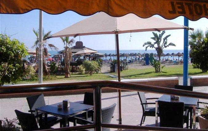 Terras van hotel Rincon Sol aan de Costa del Sol