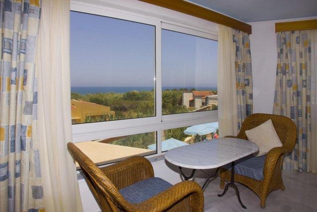 Zitgdeelte in appartement van appartementen Furtura vakantie Kreta