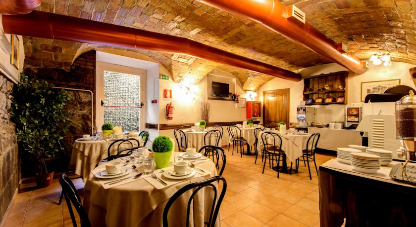 Ontbijtzaal van Hotel Parker in Rome