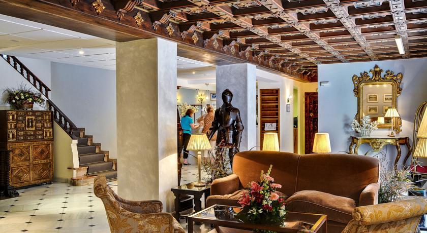 Zitgedeelte van Hotel Murillo in Sevilla
