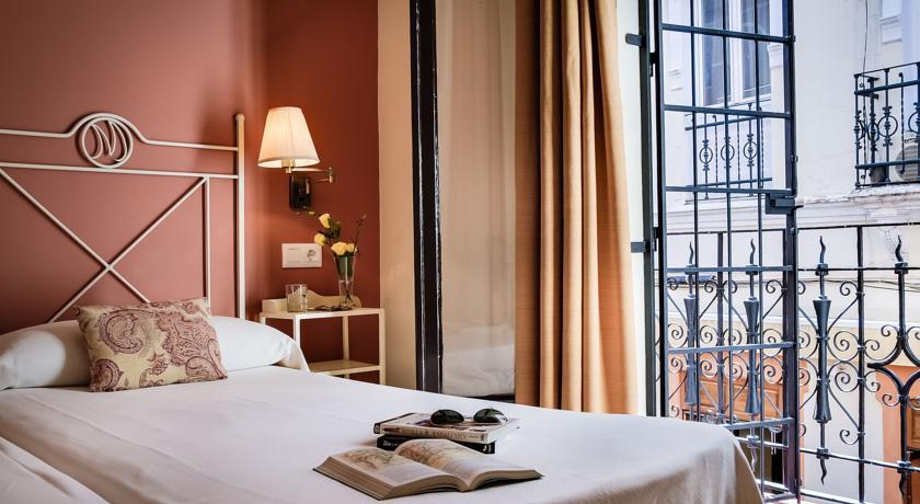 Kamer met twee enkele bedden van Hotel Murillo in Sevilla