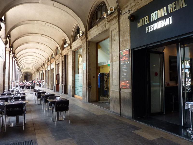 Terras van Hotel Roma Reial Barcelona