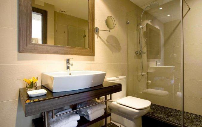 Badkamer in een kamer van Hotel Oasis in Barcelona