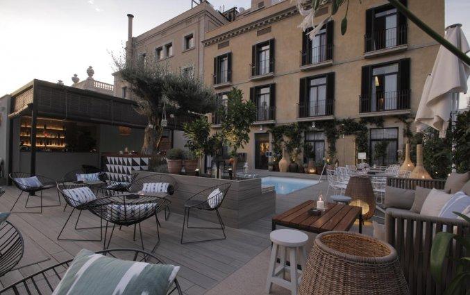 Terras van Hotel Oasis in Barcelona